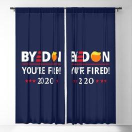 ByeDon 2020 You're Fired! Funny Biden Harris Art II Blackout Curtain