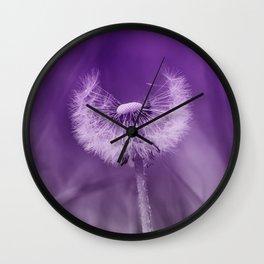 Purple Dandelion Wall Clock