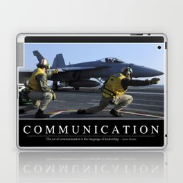 Communication: Inspirational Quote and Motivational Poster Laptop & iPad Skin