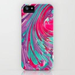 Marbeling Fucsia iPhone Case