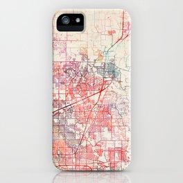 McKinney map Texas painting iPhone Case