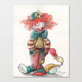 Clown Canvas Print