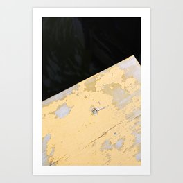 Chipped Paint and the Dark Deep Art Print