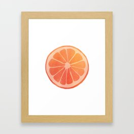 Blood Orange Framed Art Print