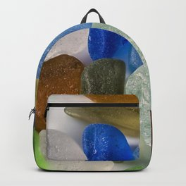 Colorful New England Beach Glass Backpack