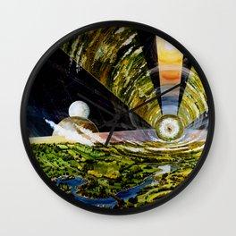 Interior View, O'Neill Island III Wall Clock