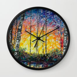"""Morning Breaks"" Wall Clock"