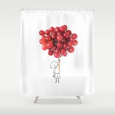 Boy with grapes - NatGeo version Shower Curtain