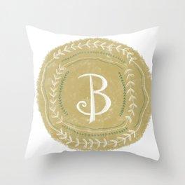 Initial (B) Throw Pillow
