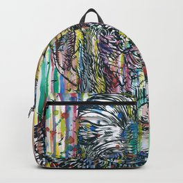 SAMUEL BECKETT watercolor and ink portrait Backpack
