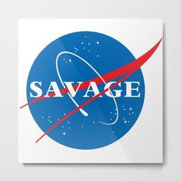 Science SAVAGE Metal Print