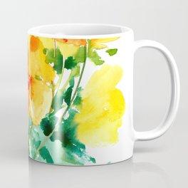 California Poppies, floral home decor Coffee Mug