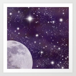 Cosmic Moon  Art Print