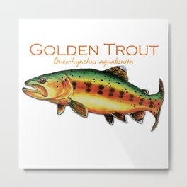 Golden Trout Metal Print