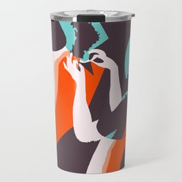 Retro style Art Deco French fashion ad Travel Mug