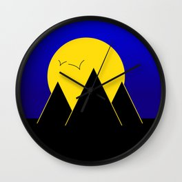 Pyramids in the night - Vector Wall Clock