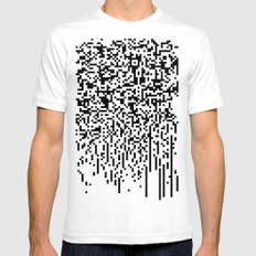 QR-antine V 0.1 White SMALL Mens Fitted Tee