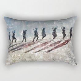 The Long Walk, World War Two Rectangular Pillow