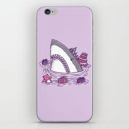 Birthday Princess Shark iPhone Skin