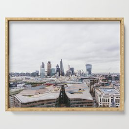 City View of the Financial District of London from St. Paul's Cathedral Serving Tray