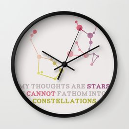 The Fault in Our Stars: Constellations Wall Clock