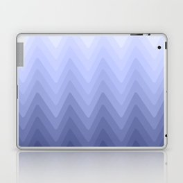 Zigzag. White, blue, dark blue Ombre. Laptop & iPad Skin