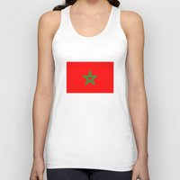 morocco Tank Tops featuring Morocco country flag by tony tudor