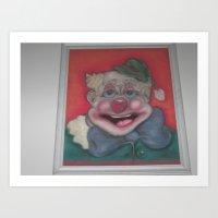 Happy The Clown Art Print