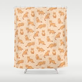 Sand Cats Shower Curtain