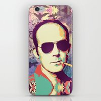hunter s thompson iPhone & iPod Skins featuring Hunter S. Thompson by victorygarlic - Niki