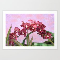 Spring Orchids Painting  Art Print