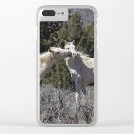 Wild Horses with Playful Spirits No 2 Clear iPhone Case