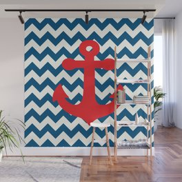 Red anchor Wall Mural