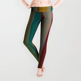Colorful Acrylic Painting Paths Leggings