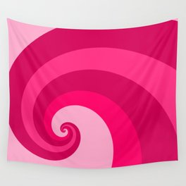pink wave Wall Tapestry