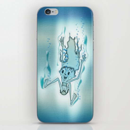Blue Turquoise iPhone & iPod Skin