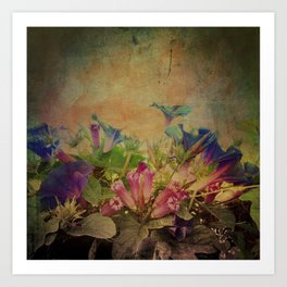 Flowers have music for those who will listen Art Print