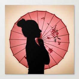 Jappo silhouette Canvas Print
