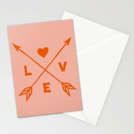 Abstraction_LOVE_HEART_VALENTINE_Minimalism_001 Stationery Cards