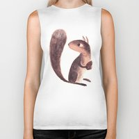 squirrel Biker Tanks featuring Squirrel by Chuck Groenink