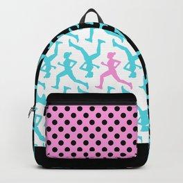 Running Girl Pastel Pattern Backpack