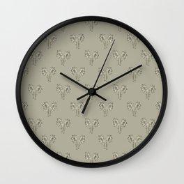 Floral Print Drawing Pattern Wall Clock