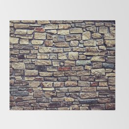 Brick Wall Pattern Throw Blanket