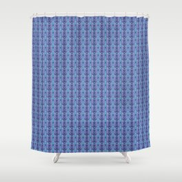 Ikat Purple Shower Curtain