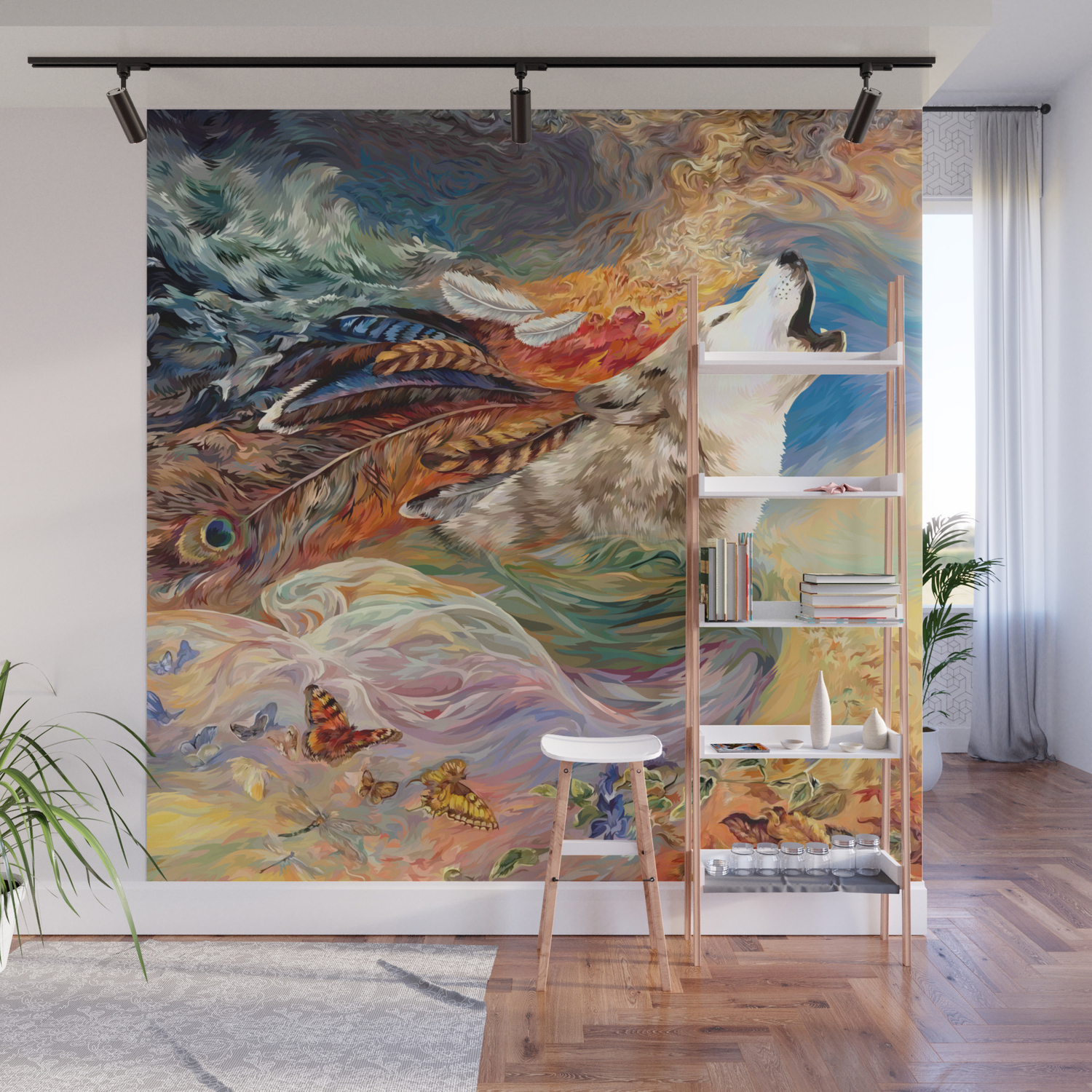 The Spirit Wolf Abstract Wall Mural By Digitalizedteam Society6