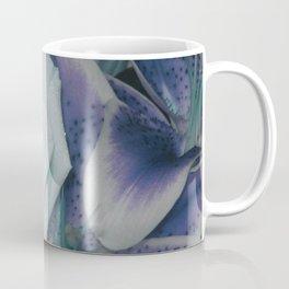 Aqua Roses Violet Lilies Coffee Mug