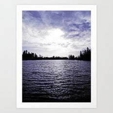 Scenic and cold Art Print