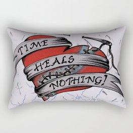 Time Heals Nothing! Rectangular Pillow