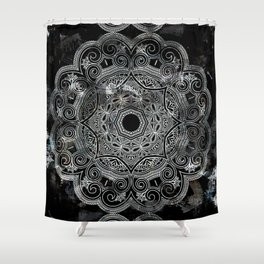 marble and ornaments Shower Curtain