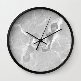 Gray and White Marble Wall Clock